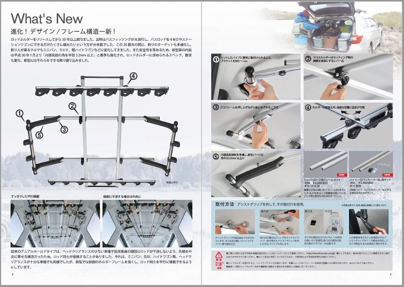 2019 INNO イノーフィッシングギア カタログ P4-5 ロッドホルダー新製品