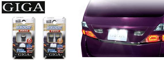 GIGA(ギガ) LEDライセンスランプ2 リミテッドホワイト6500ケルビン カーメイト